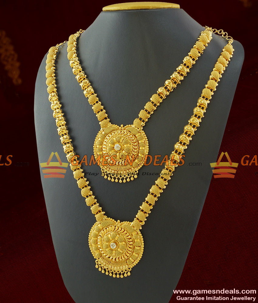 Combo Long and Short Necklace Set for Marriage