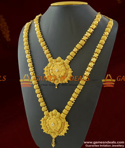 Combo Long and Short Necklace Set for Marriage Women and Girls