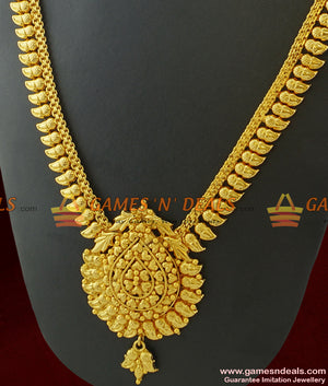 Mango Leaf South Indian Imitation Jewelry Guarantee Haaram Low Price