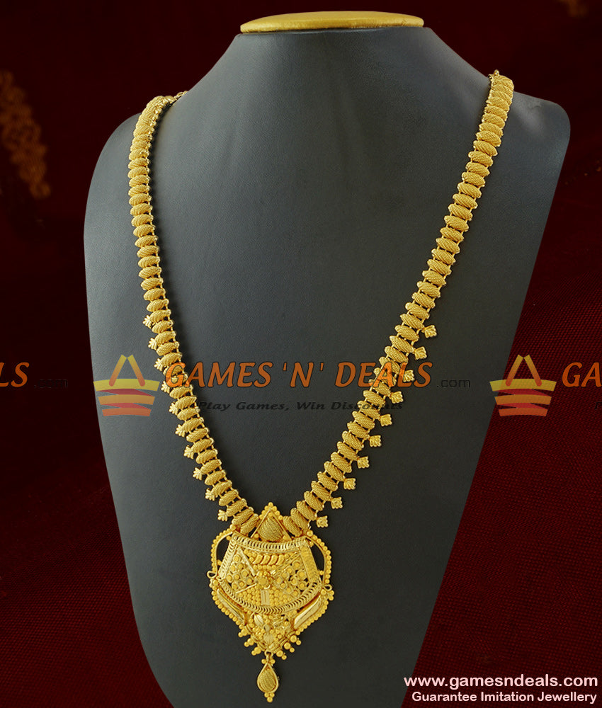 Grand Handmade Majestic Haaram One Year Guarantee Imitation Jewelry