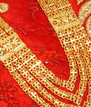 Hand Made Grand Net Work Design Governor Malai Long Heavy Bridal Haaram