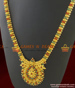 Red Green AD Stone Long Necklace for Women Marriage and Wedding