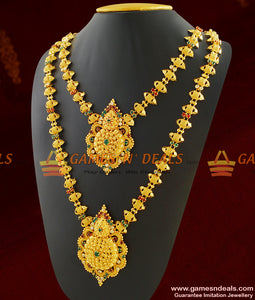 Bridal Special Combo Haaram Long Necklace for Wedding Set Imitation Jewelry
