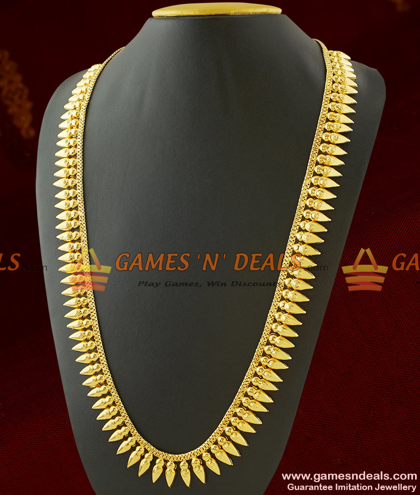 Light Weight Traditional Mullai Poo Haram Design Long Necklace for Marriage