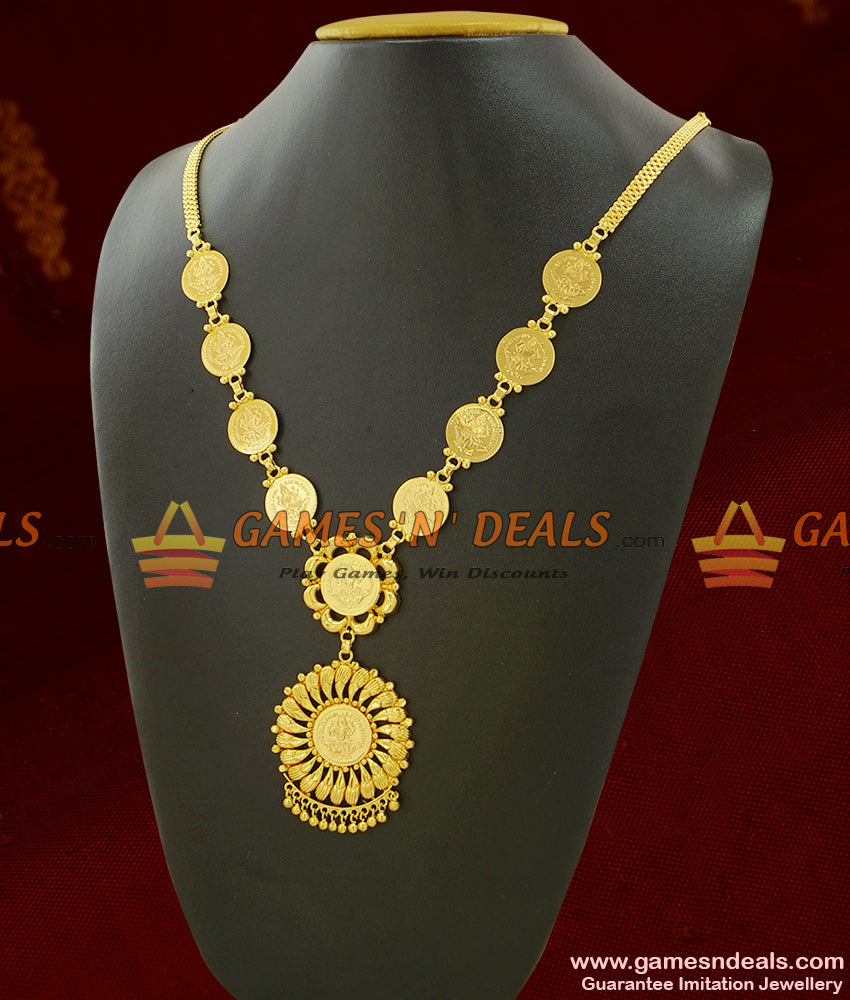 One Year Guarantee Necklace Full Lakshmi Kasu Dollar Kerala Jewelry