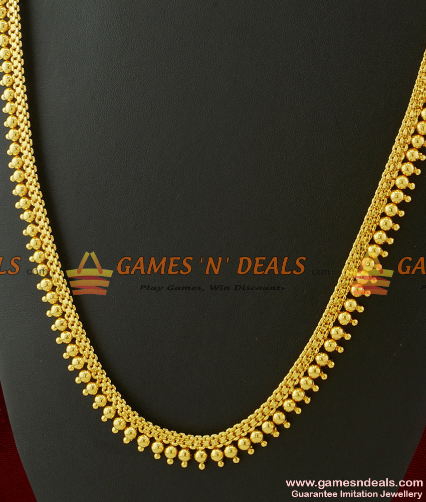 Traditional Full Plain Beads Design Additional Long Necklace for Marriage