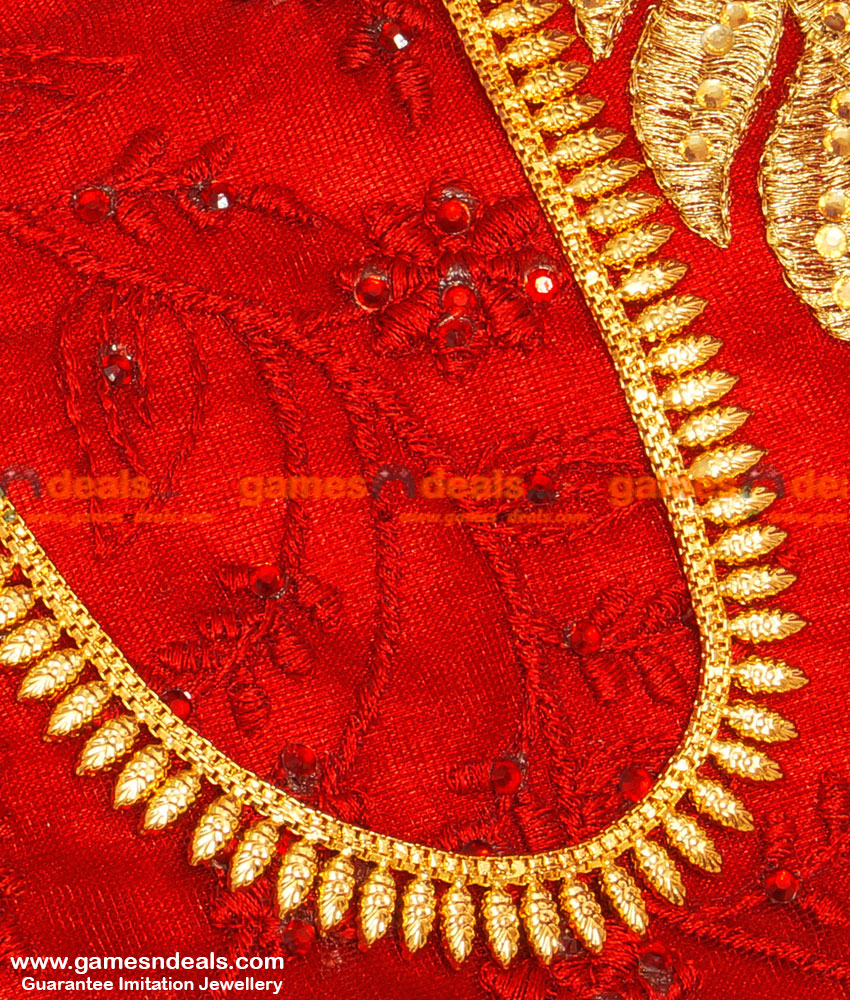 Very Light Weight Traditional Kerala Arumbu Leaf Long Necklace for Women