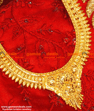 Gold Plated Jewellery Traditional Calcutta Design Bridal Haaram