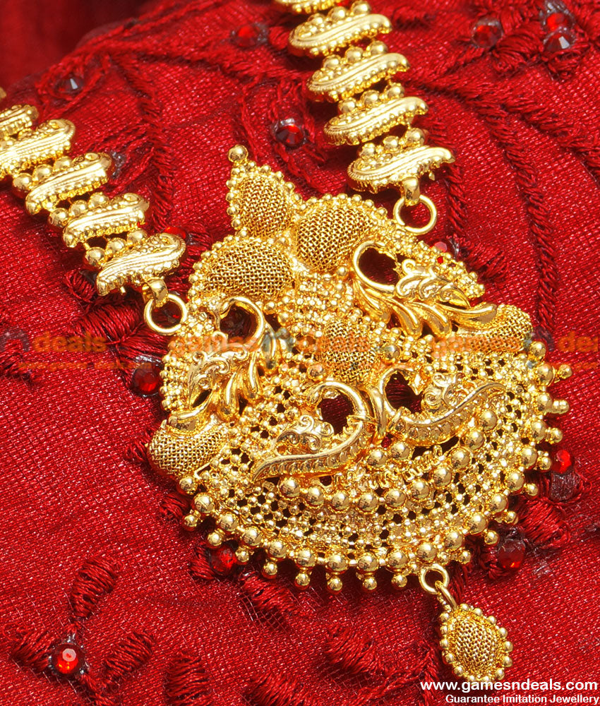 Party Wear Peacock Dollar Antique Design Chain Handmade Haram