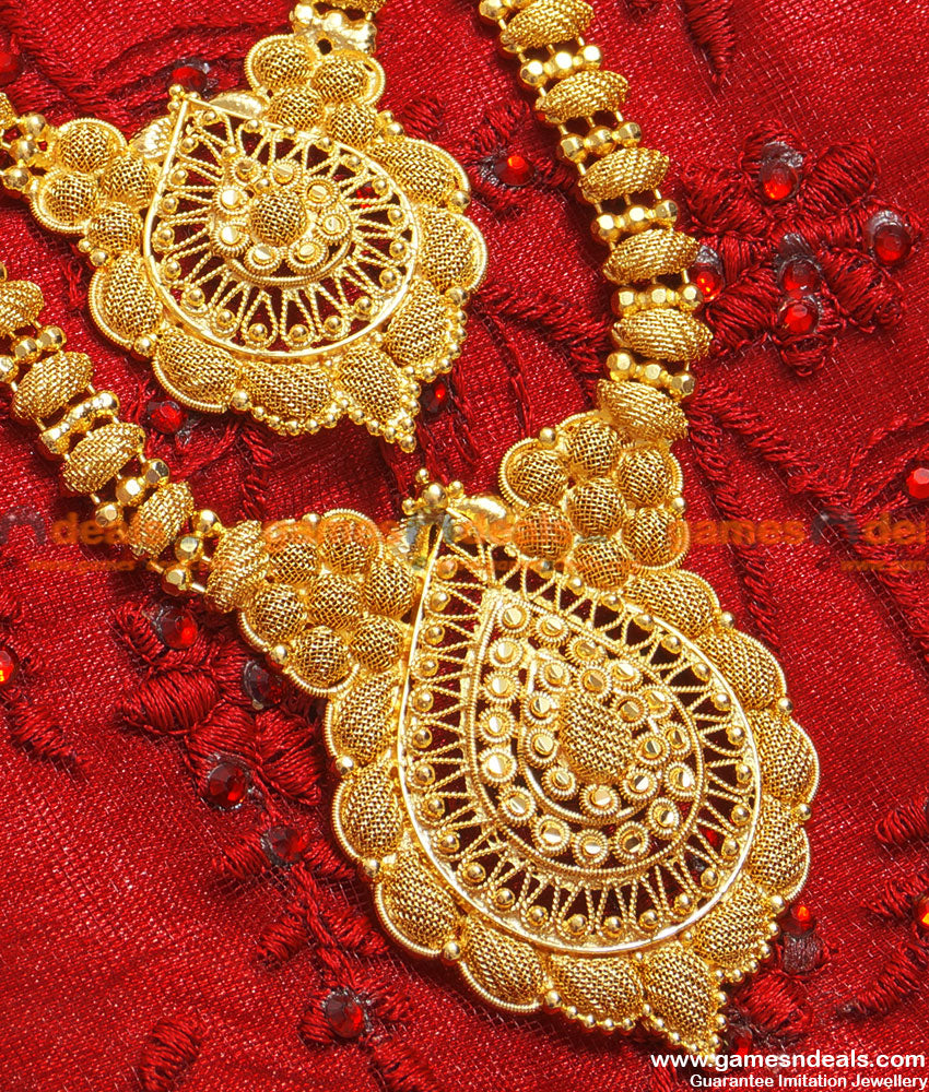 Exclusive Gold Plated Double Line Grand Party Dollar Design Haram