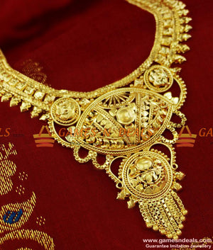 Calcutta Design Bridal Wear Short Haaram Dollar Imitation Jewellery