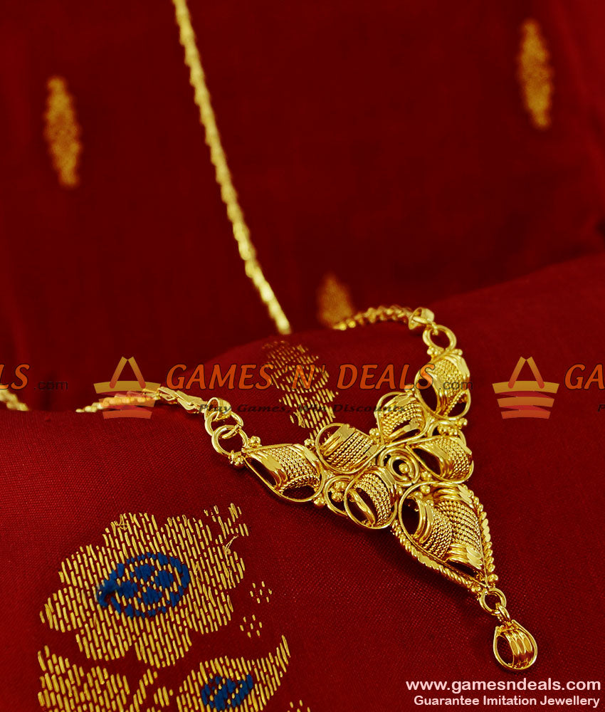 BGDR108 - Trendy Stone Dollar Gold Plated Imitation  Jewelry Wheat Chain Indian