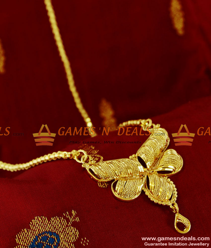 BGDR109 - Trendy Butterfly Design dollar Gold Plated Imitation Jewelry Buy Online