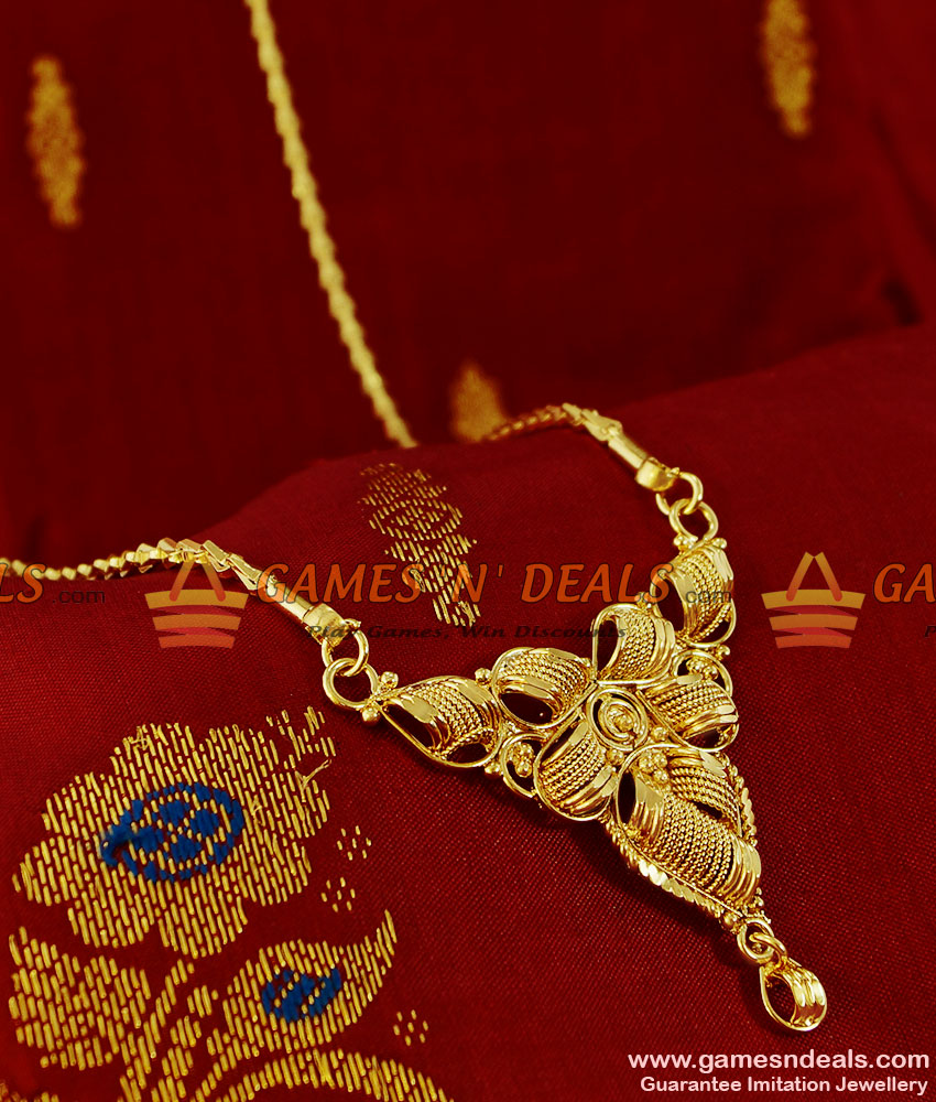 BGDR110 - Trendy Plain Dollar Gold Plated Imitation  Jewelry Wheat Chain Indian