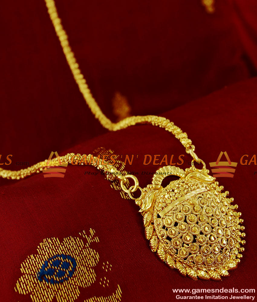BGDR119 - Unique Kerala Beaded Dollar Half Leaf Design Party Wear Jewellery