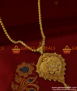 BGDR169 - Micro Gold Plated Heartin Dollar Guarantee Imitation Jewelry