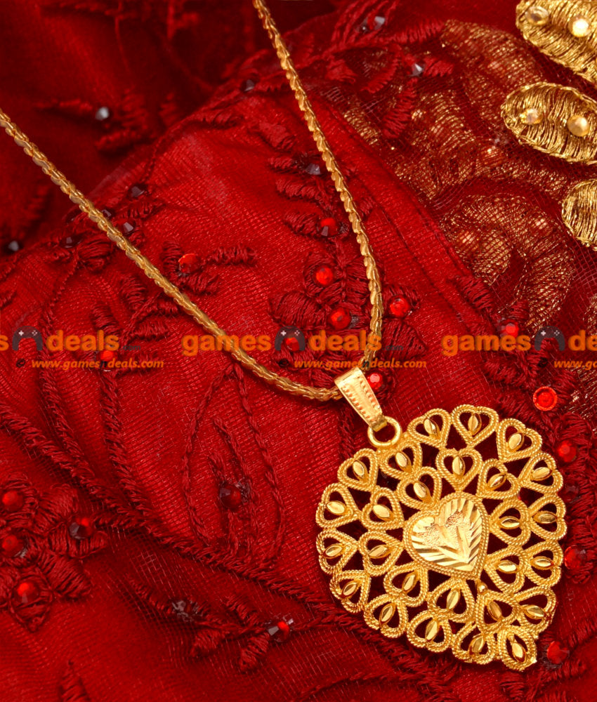 BGDR17- Gold Plated Imitation Chain Light Weight Heartin Dollar Trendy Design