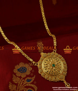 BGDR170 - Bridal Wear Kerala Type AD Stone Dollar Imitation Jewelry