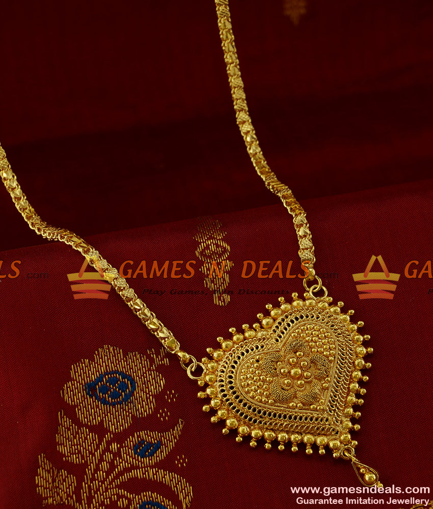 BGDR175 - Valentine Special Gold Plated Heartin Dollar and Heartin Chain