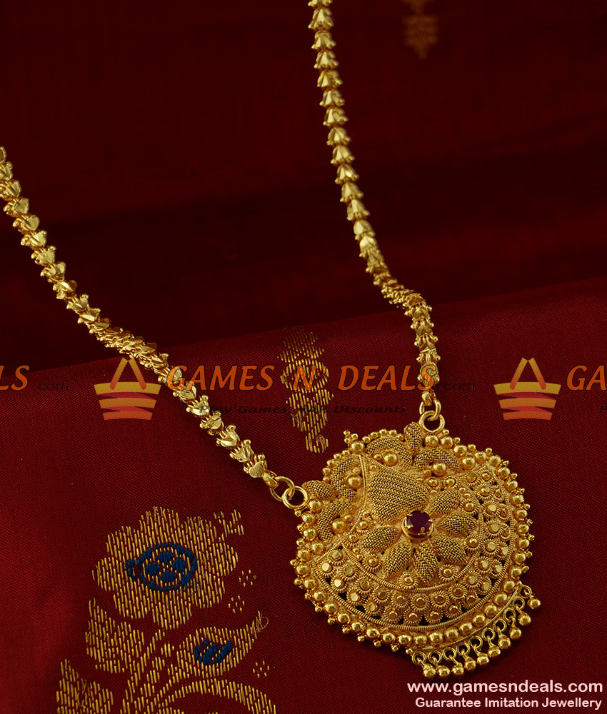 BGDR178 - Bridal Design Big Flower Dollar Kerala Type Guarantee Imitation Jewelry