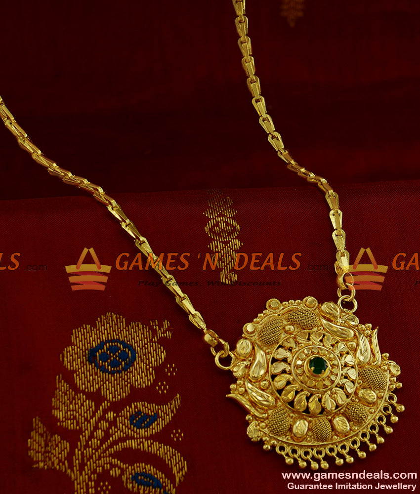 BGDR184 - Simple Kerala Flower dollar with Wheat Chain Low Price Online