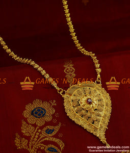 BGDR205 - Ruby Stone Jewelry Kerala Design Dollar Gold Inspired Designs Online