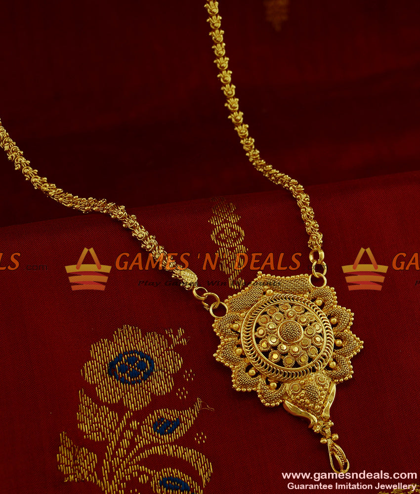 BGDR209 - Traditional Tamilnadu Flower Design Dollar with Jasmine Chain Online