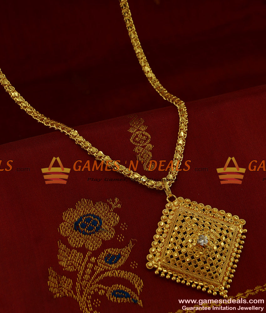 BGDR210 - Kerala Best Selling Traditional Imitation Dollar with Chain