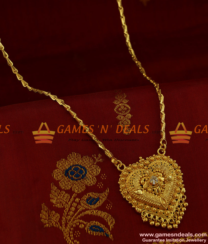 BGDR225 - Traditional heart dollar jewellery online and awesome trendy chain