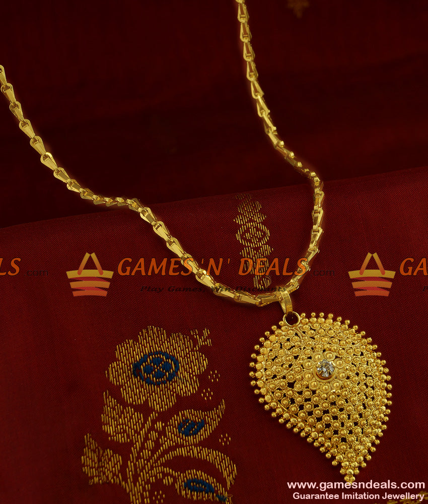 BGDR228 - Traditional Mango Dollar Jewellery with Thick Wheat Chain