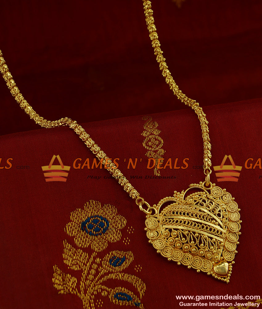 BGDR252 - Marvelous South Indian Chain with Gold Like Chidambaram Imitation Dollar