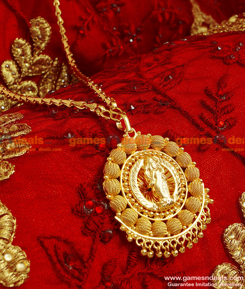 BGDR50 - Gold Plated Traditional Lakshmi Dollar Best Selling Wheat Chain