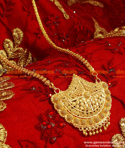 BGDR51 - Gold Plated Guarntee Jewellery Kerala Type Big Dollar With Chain