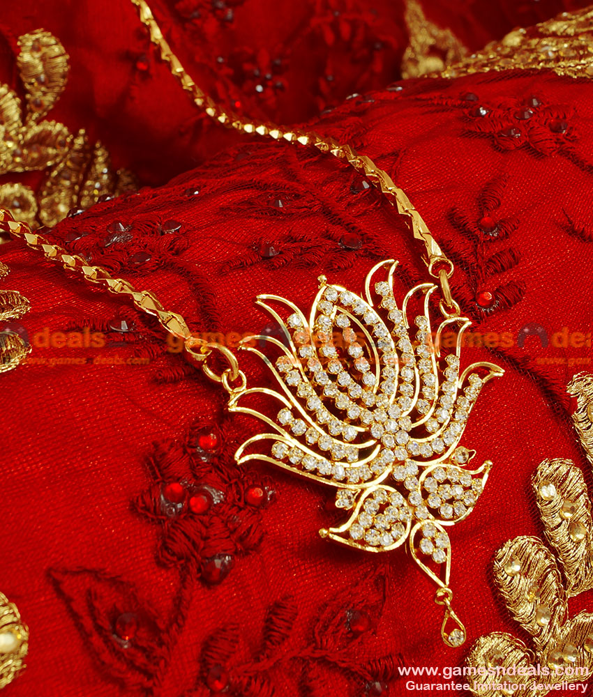 BGDR53 - Gold Plated Guarntee Traditional Lotus Dollar With Wheat Chain