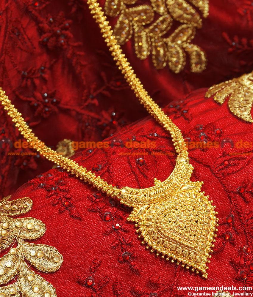 BGDR66 - Gold Plated Trendy Kerala Heartin Beaded Chain With Valentine Dollar