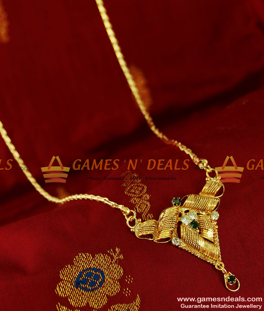 BGDR76 - Gold Plated Imitation Traditional Dollar Wheat Chain Indian Jewelry