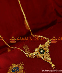 BGDR79 - Trendy Stone Dollar Gold Plated Imitation  Jewelry Wheat Chain Indian