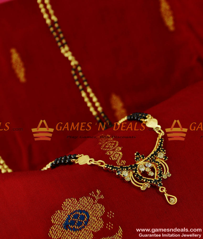 BGDR89 - Traditional AD Stone Imitation Dollar Mangalsutra Design Chain