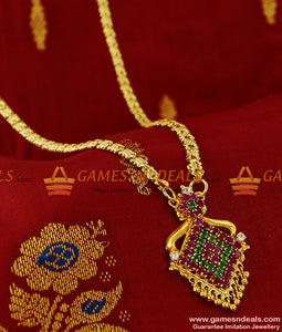 BGDR92 - Cute Small Ruby Dollar Party Wear South Indian Latest Imitation Jewelry