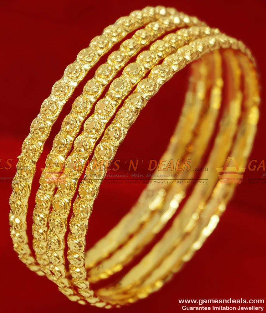 South Indian Gold Tone Bangles