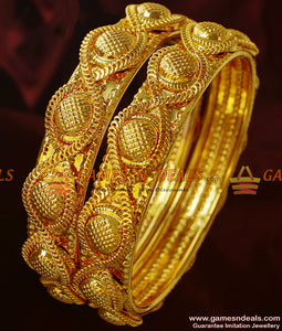 Broad Antique Design Heavy Bangles