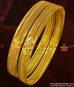 Gold Pattern Guarantee Bangles