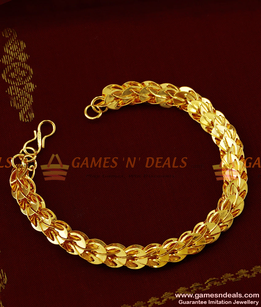 BRAC017 - Attractive Handmade Gold Plated Imitation Bracelet Party Wear Jewelry Online