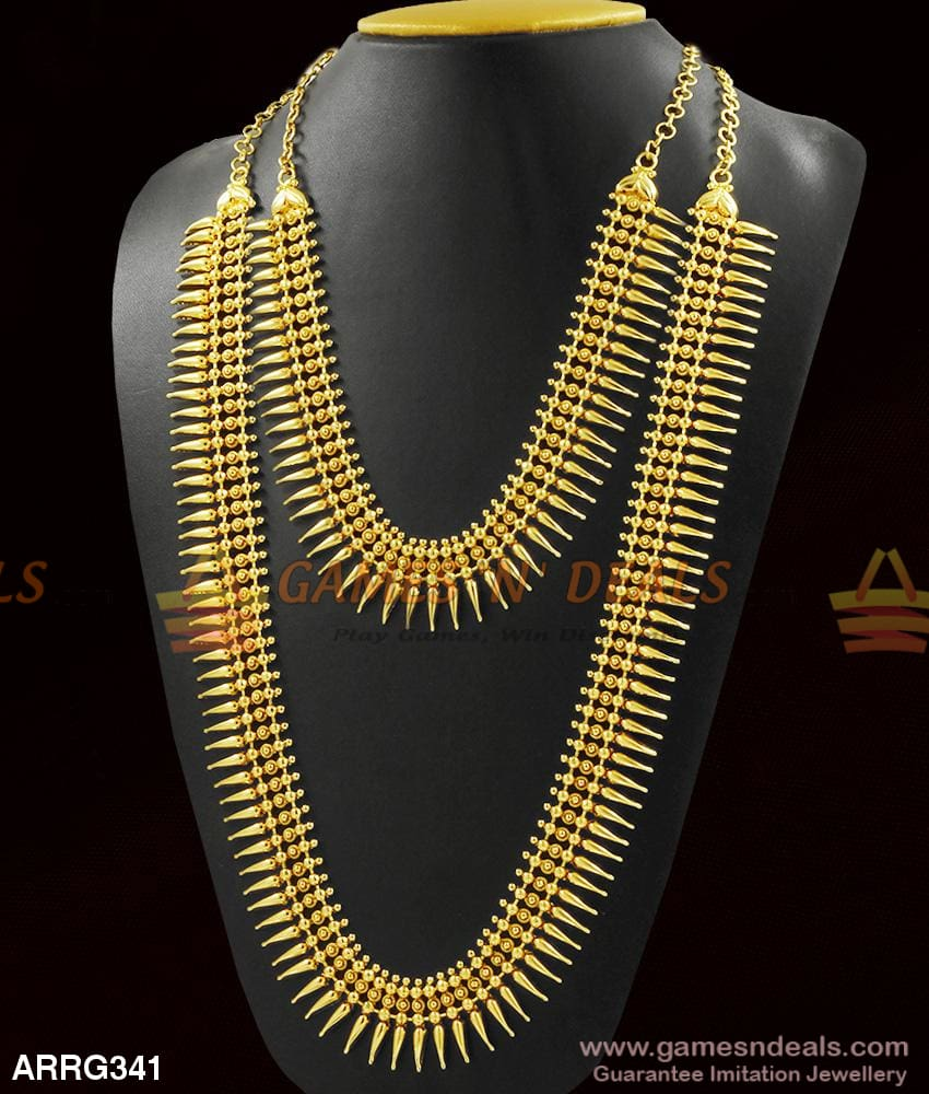 Bridal Combo Jewelry Set Mullaipoo Kerala Designer Gold Collections For Marriage 1 Year Long