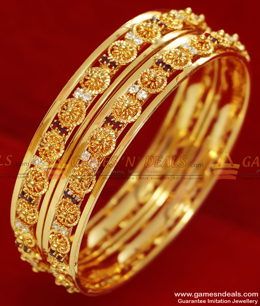 Imitation AD White Stone Bangle