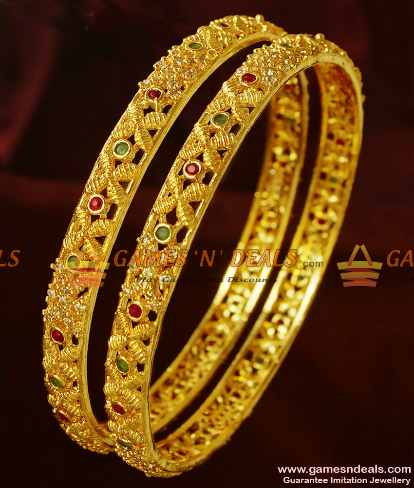 Sparkling Two Pieces Bridal Bangles