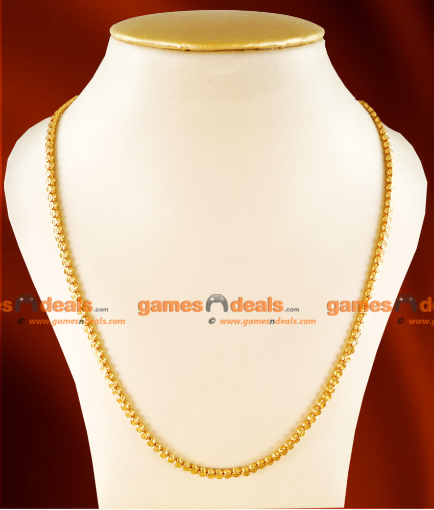CH0101-  Gold Plated Jewellery Traditional Box Chain Kumil Design