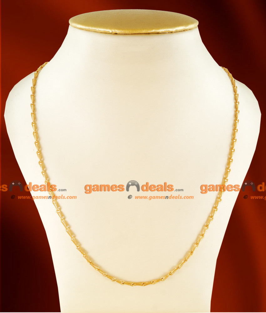 CH0108- Gold Plated Jewellery Traditional Fast Moving Light Weight Men's Chain