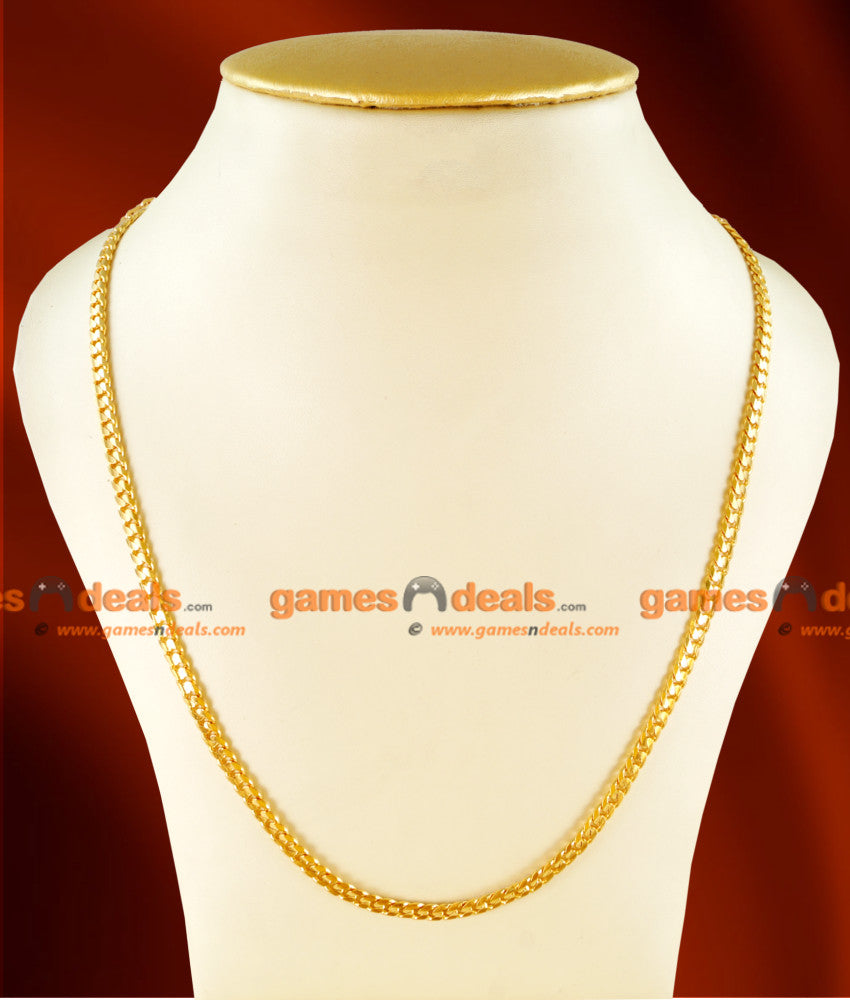 CH0110- Gold Plated Jewellery Traditional Light Weight Mens Chain Design