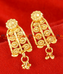 ER050 - Gold Plated Traditional Kerala Jewllery Flower Real Gold Design